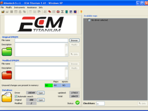 ECM TITANIUM 1.61 software and 18475 driver