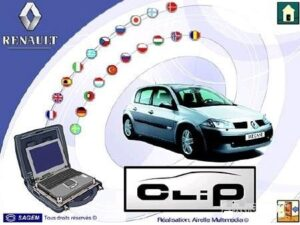 V205 For Renault CAN Clip software + Reprog 191
